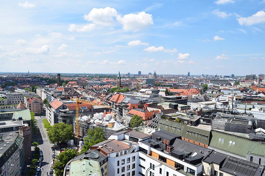 ミュンヘン ペーター教会からの眺め
