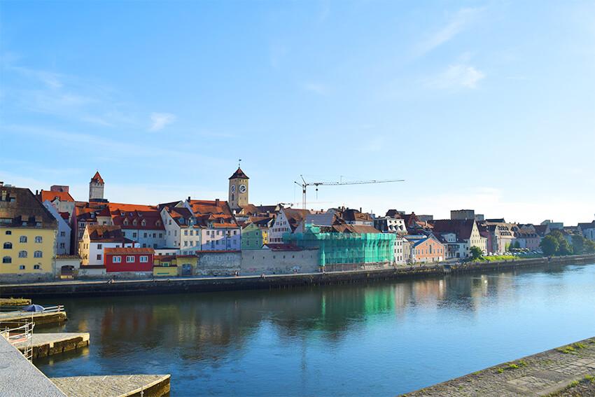 レーゲンスブルク旧市街対岸からの眺め