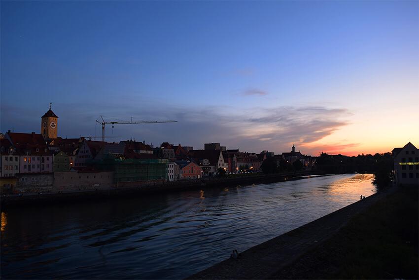 レーゲンスブルクの夕暮れ