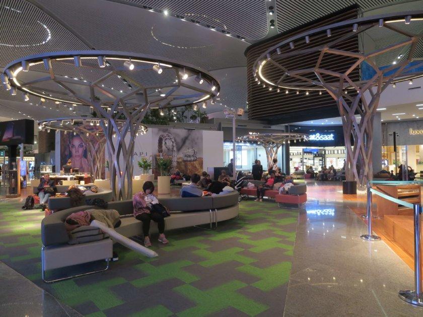 イスタンブール空港の休憩スペース