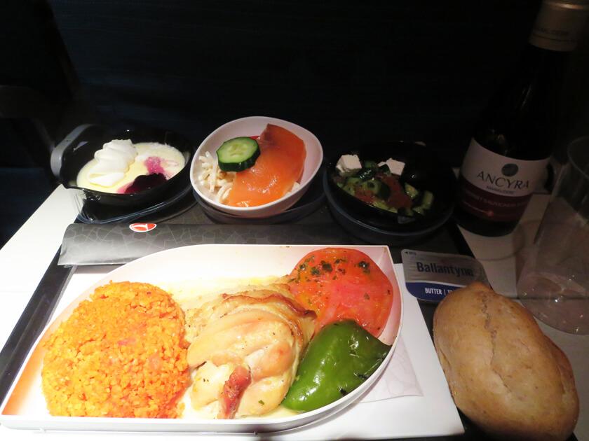 トルコ航空機内食チキン