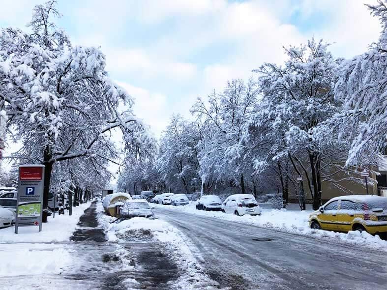 ミュンヘン冬の街並み