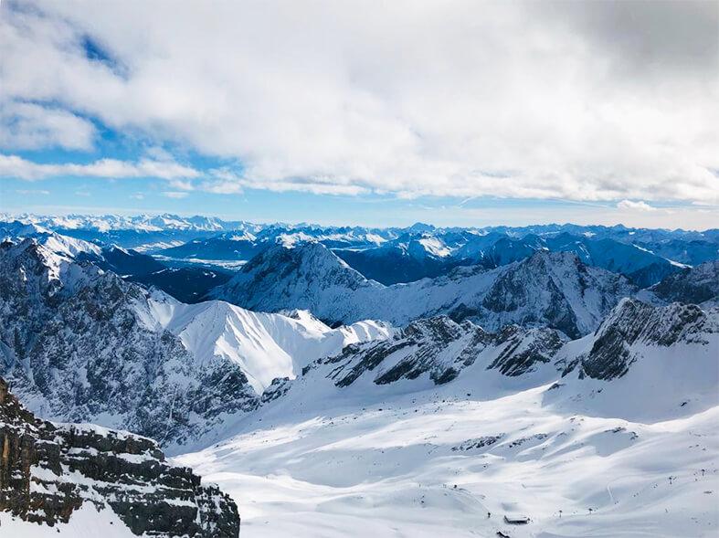 ツークシュピッツェのスキー場